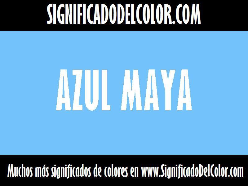 cual es el color Azul maya