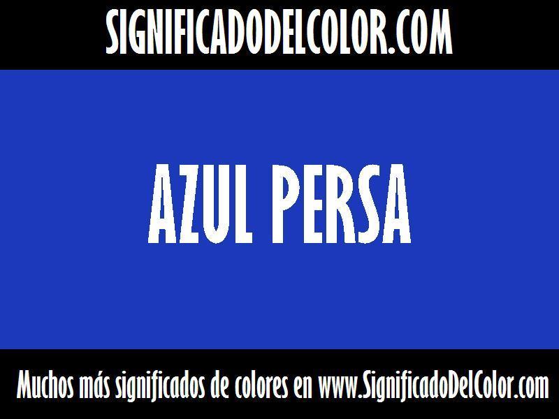 ¿Cual es el color Azul persa?