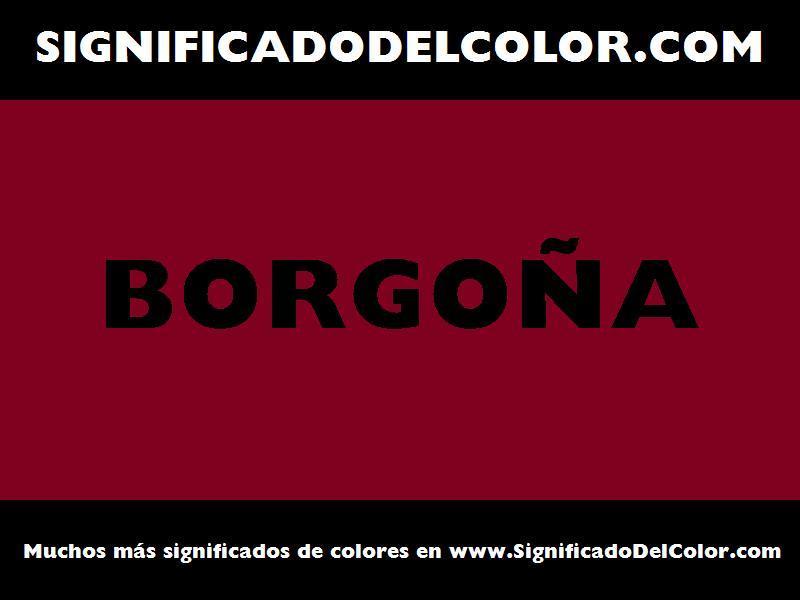 ¿Cual es el color Borgoña?