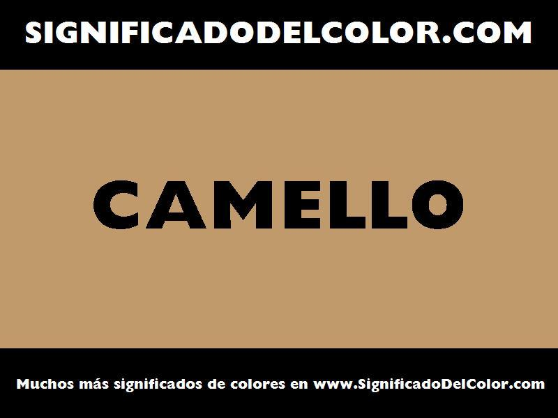¿Cual es el color Camello?