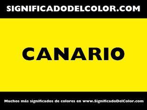 cual es el color canario