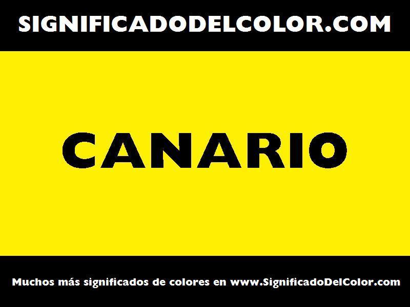 ¿Cual es el color Canario?