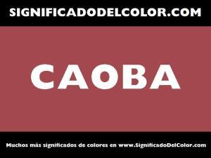 cual es el color caoba