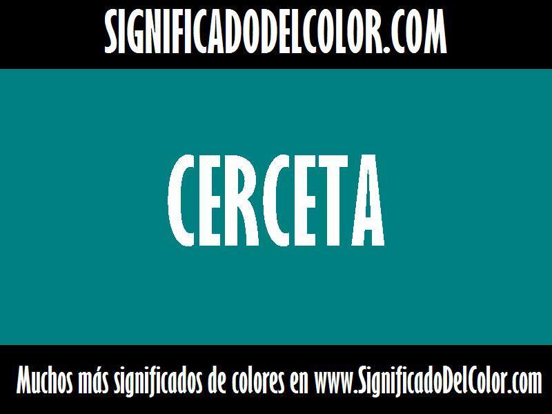 ¿Cual es el color Cerceta?