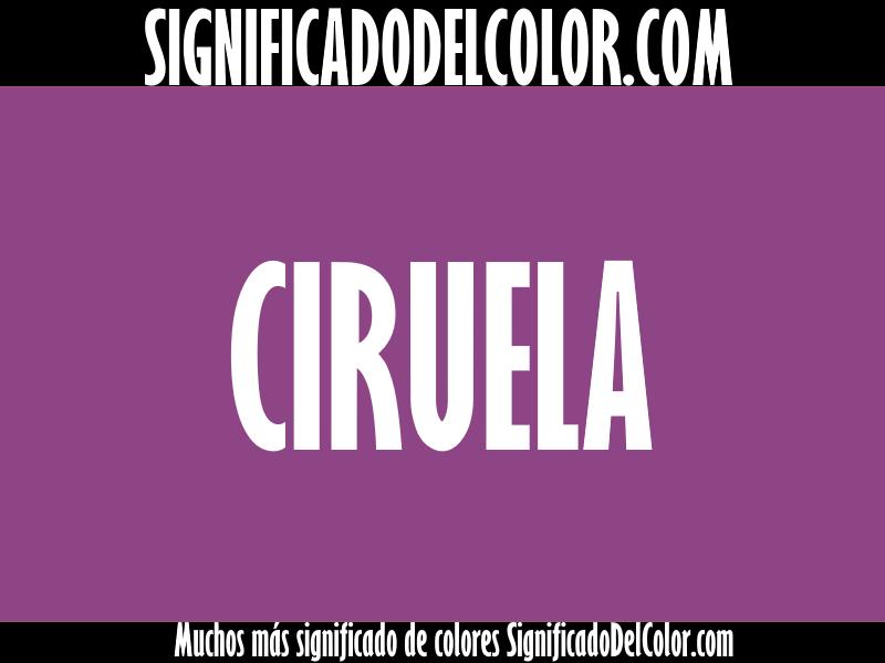 ¿Cual es el color Ciruela?