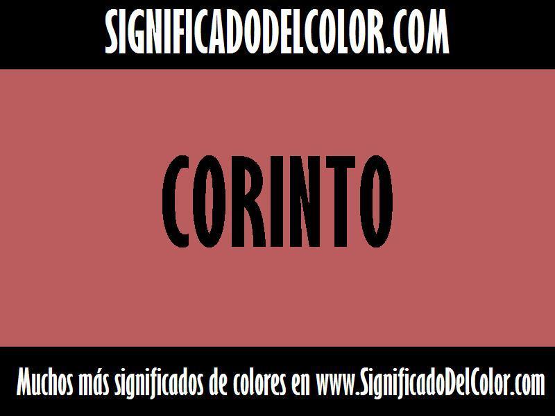 cual es el color corinto