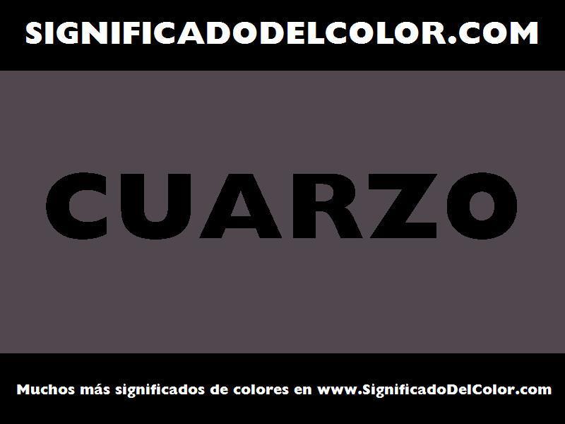 ¿Cual es el color Cuarzo?