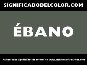 cual es el color ebano