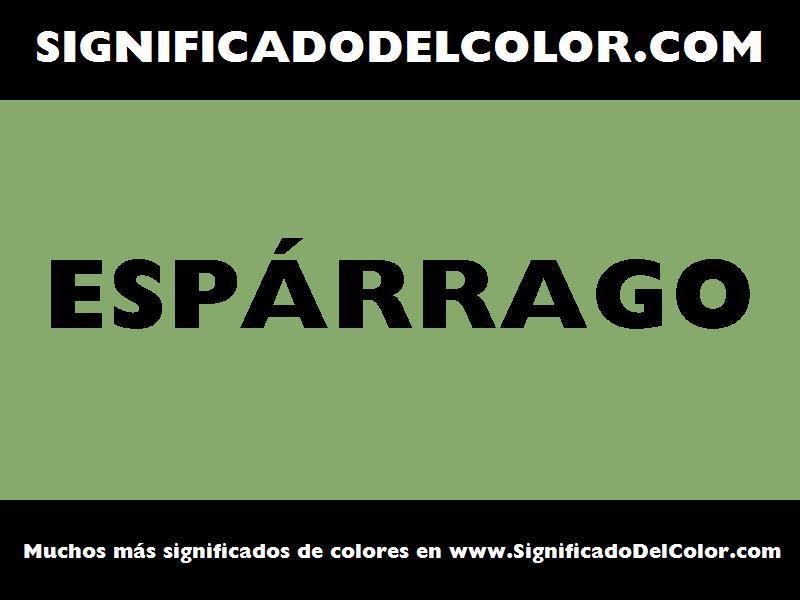 ¿Cual es el color Espárrago?