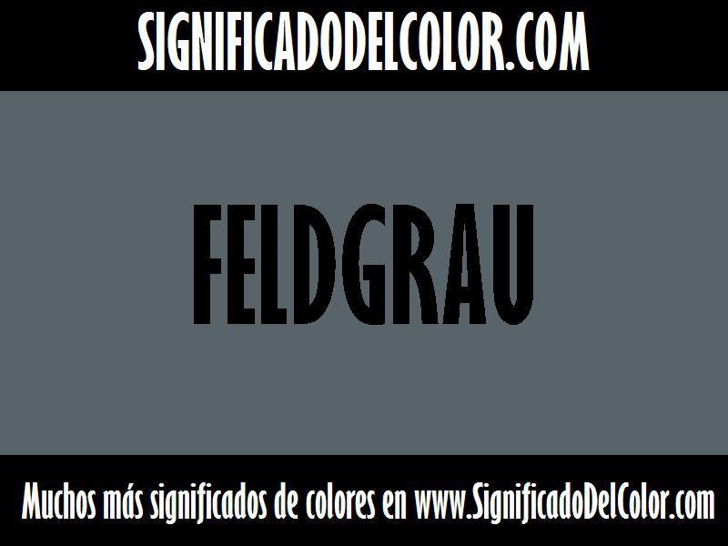 ¿Cual es el color Feldgrau?