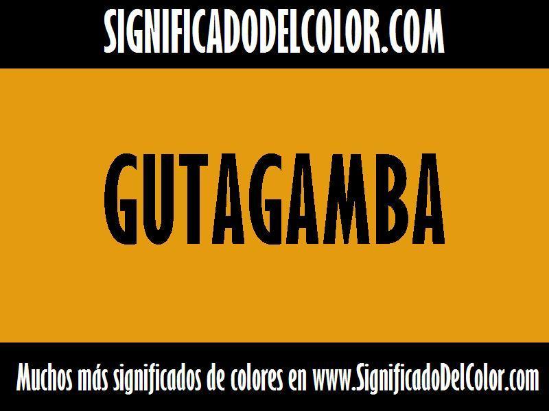 cual es el color Gutagamba
