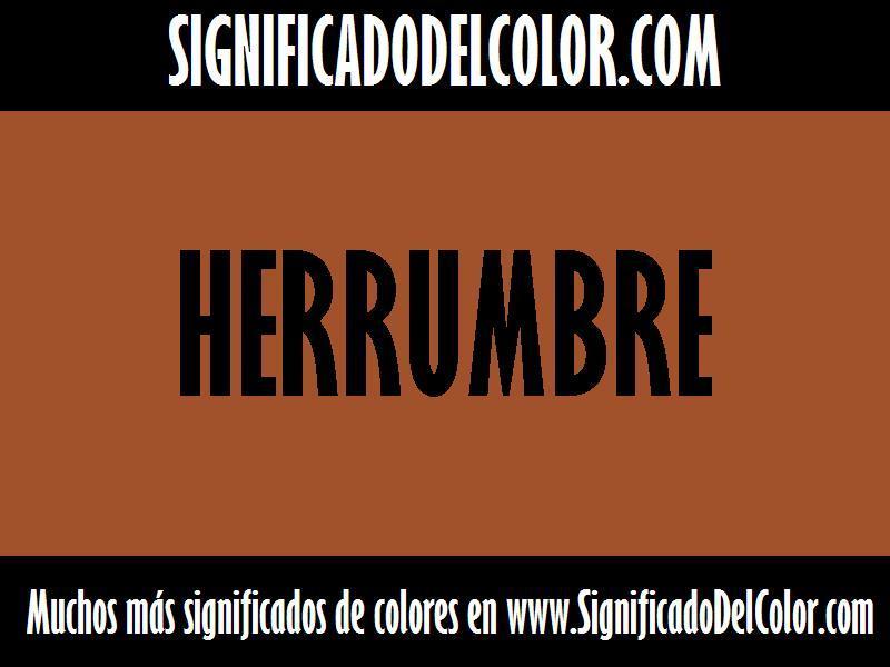 ¿Cual es el color Herrumbre?