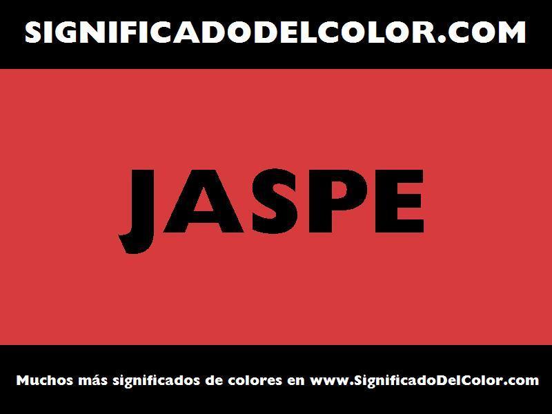 ¿Cual es el color Jaspe?