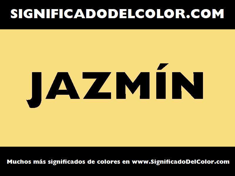 ¿Cual es el color Jazmín?