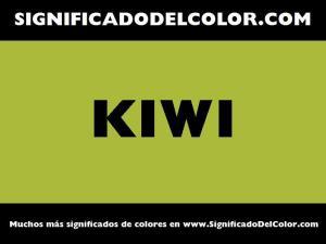 cual es el color kiwi