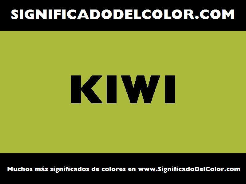 ¿Cual es el color Kiwi?