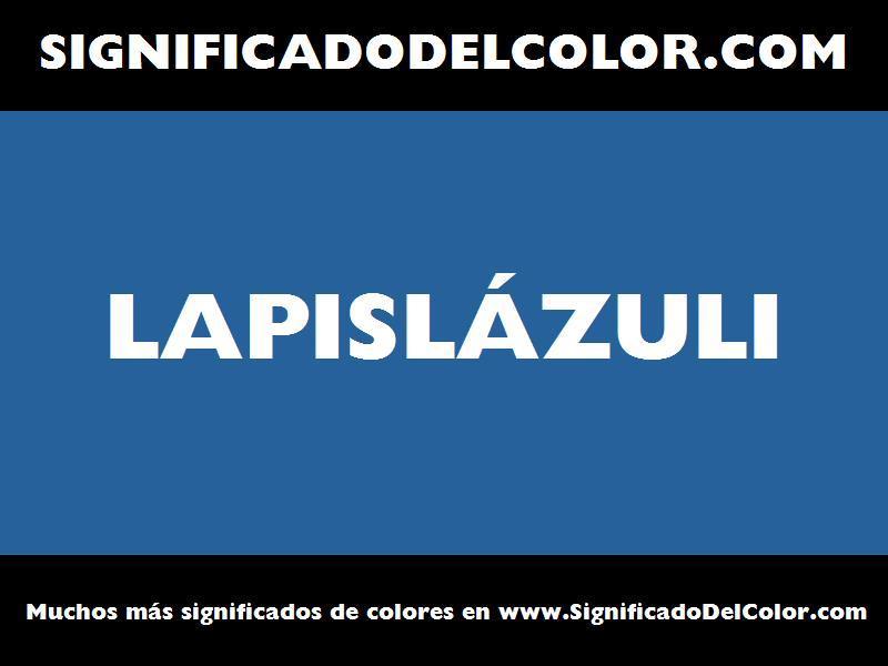 ¿Cual es el color Lapislázuli?