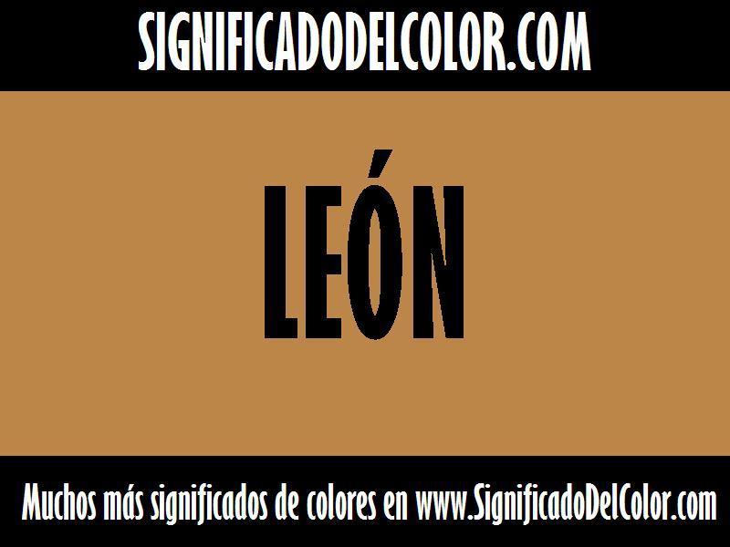 cual es el color León