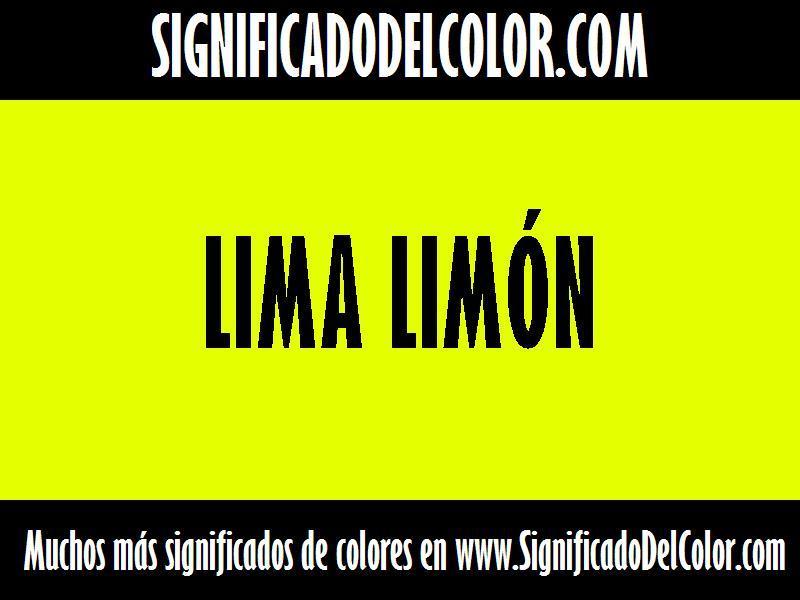 ¿Cual es el color Lima limón?