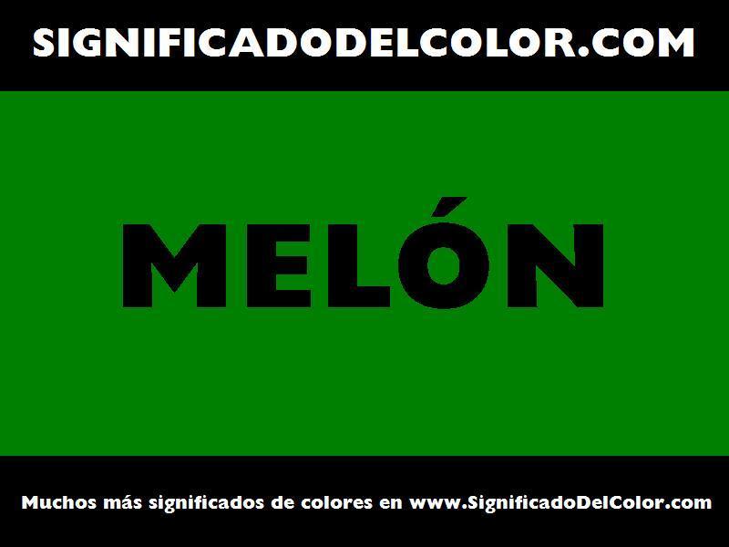 ¿Cual es el color Melón?