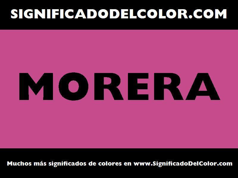¿Cual es el color Morera?