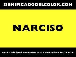 cual es el color narciso