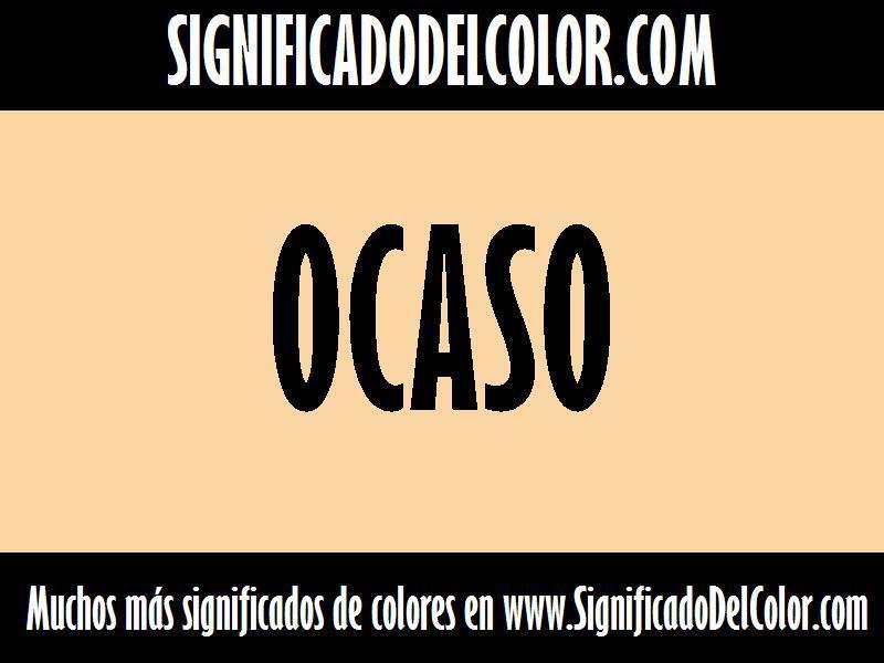 ¿Cual es el color Ocaso?