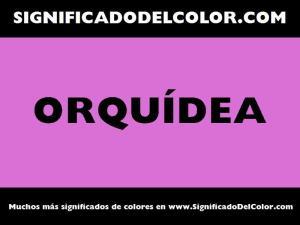 cual es el color orquidea