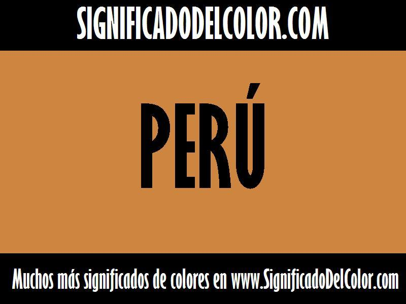 ¿Cual es el color Perú?