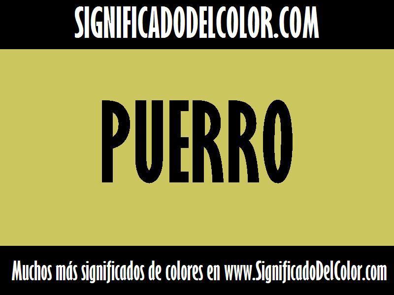 ¿Cual es el color Puerro?