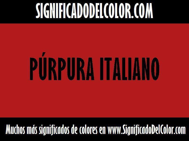 ¿Cual es el color Púrpura italiano?