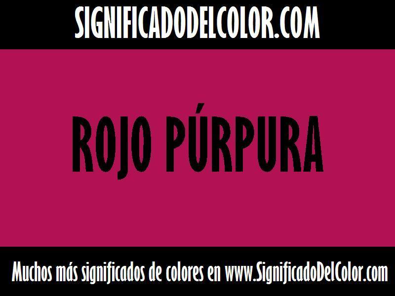 ¿Cual es el color Rojo púrpura?