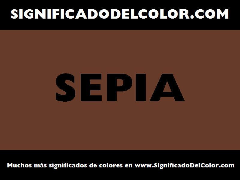 ¿Cual es el color Sepia?