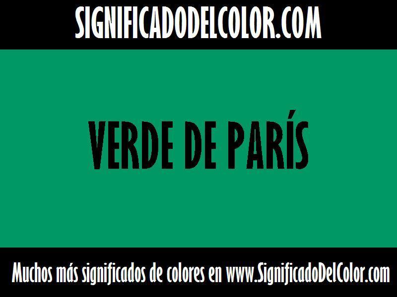 ¿Cual es el color Verde de parís?