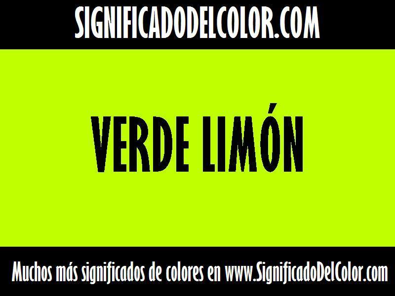 ¿Cual es el color Verde limón?