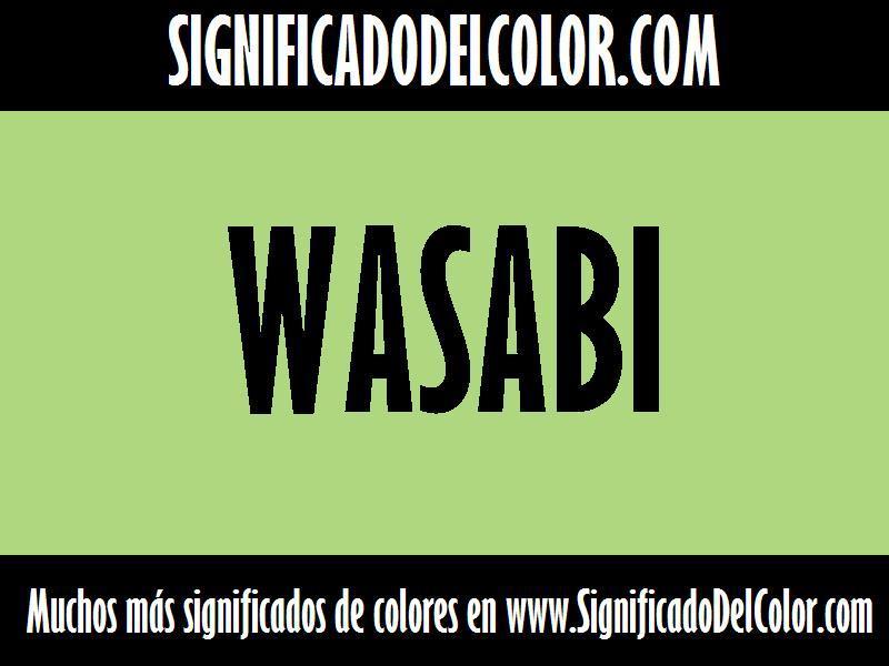 ¿Cual es el color Wasabi?