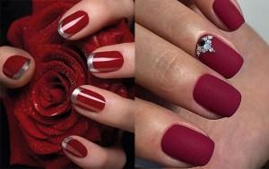 el color rojo corinto se utiliza mucho como color de uñas