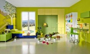 el color verde amarillo se utiliza en decoración