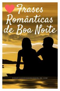 Frases românticas de boa noite