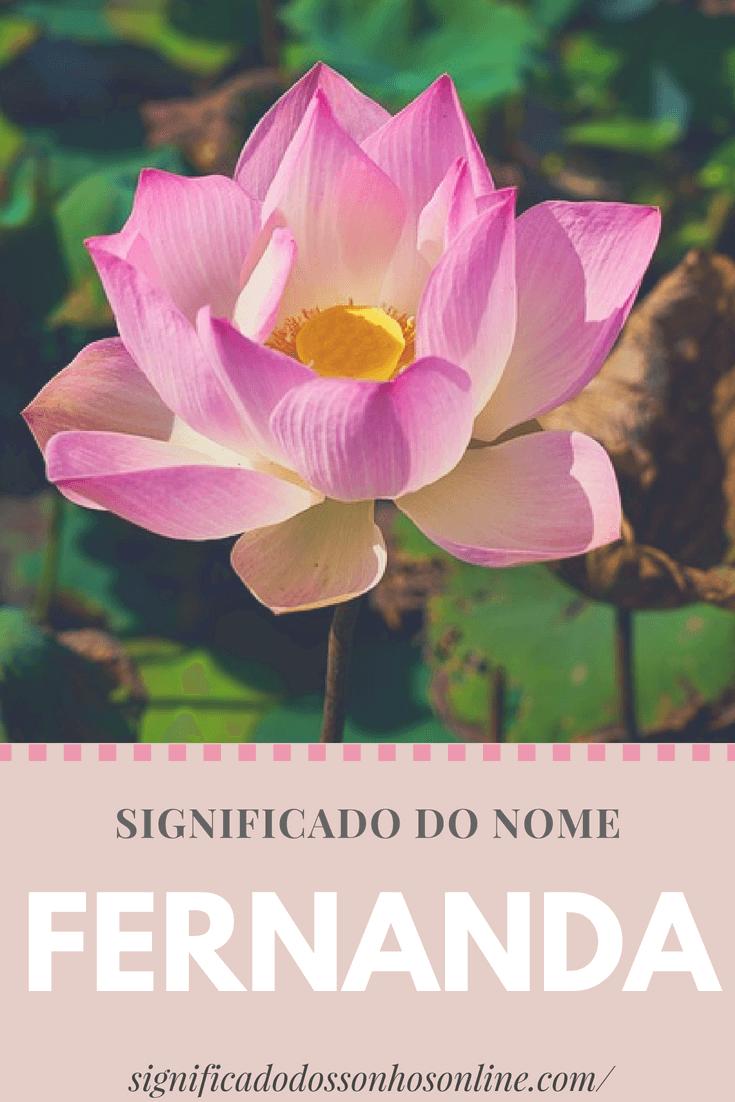 Significado do nome Fernanda