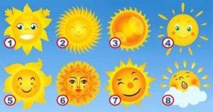 Escolha Um Sol – Você Descobrirá Características Secretas Da Sua Personalidade