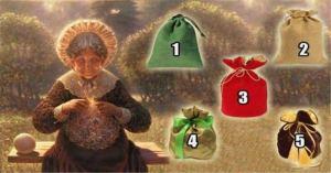 Escolha uma bolsa e receba um presente da velha sábia
