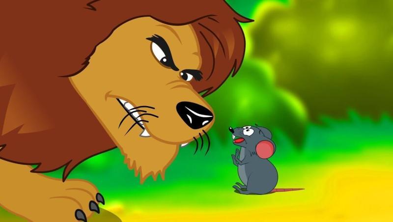 o leão grandão e o ratinho desenho