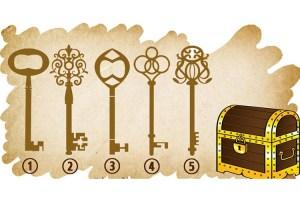 Teste: Escolha a Chave Que Abrirá o Baú Mágico e Receba Uma Mensagem
