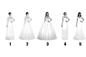 Escolha o vestido de noiva perfeito e descubra tudo sobre sua personalidade secreta