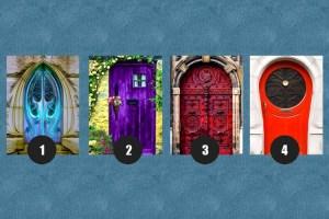 Qual dessas portas você acha que leva à felicidade?