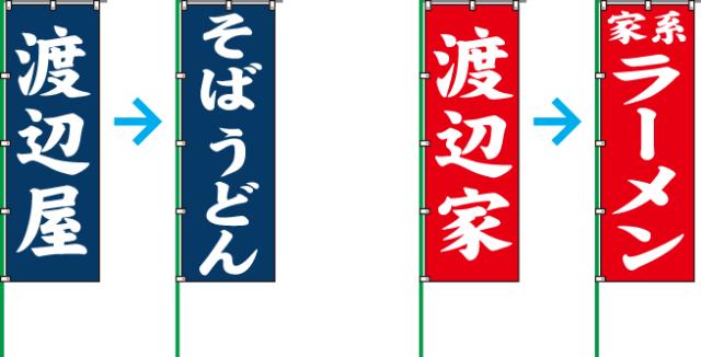 のぼり旗デザイン例
