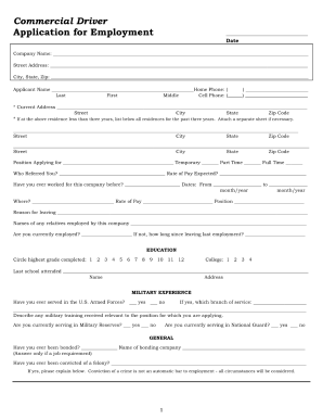 Search for another form here. Truck Driver Application Fill Out And Sign Printable Pdf Template Signnow