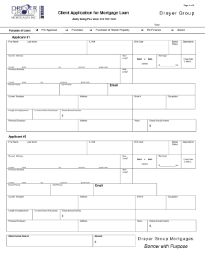 Mortgage applications are used by one or more parties to borrow money in order to purchase a home, vacant land or other real estate. Mortgage Application Form Fill Out And Sign Printable Pdf Template Signnow