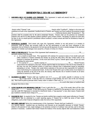 Sign Residential Lease Agreement Template